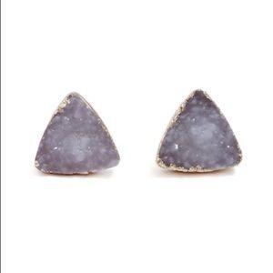 Triangle design cute stud earrings